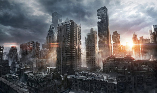 New York Ruins Post-Apocalypse