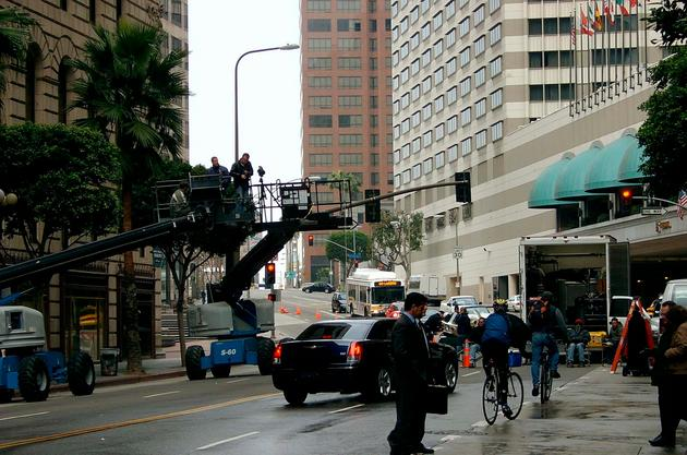 Chrysler 300 downtown (behind-the-scenes photo)