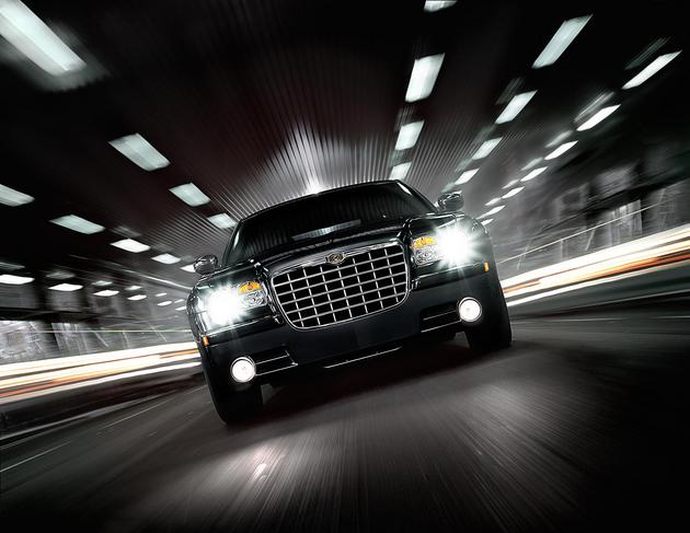 Chrysler 300 in the tunnel