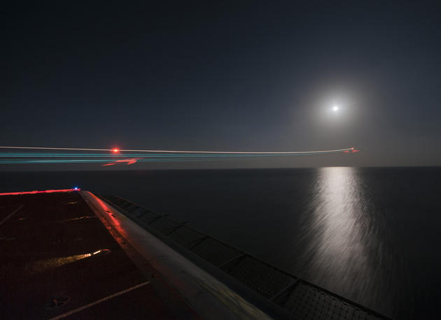 Night Launch long exposure F-18