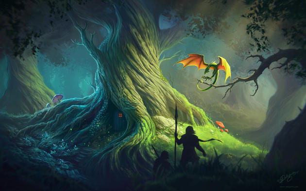 Old Tree : Fantasy HD Wallpaper