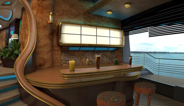 Bar inside of the ORSOS Island