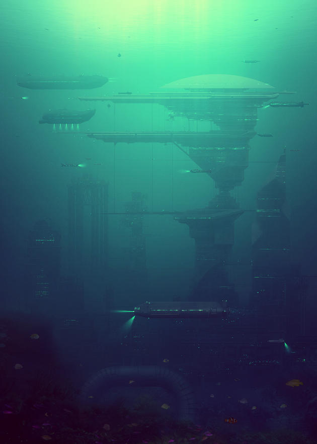 Past in the Future Series: underwater metropolis