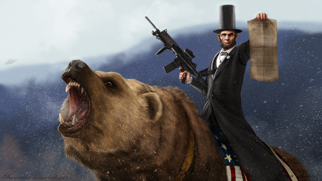 Abe Lincoln on a Bear