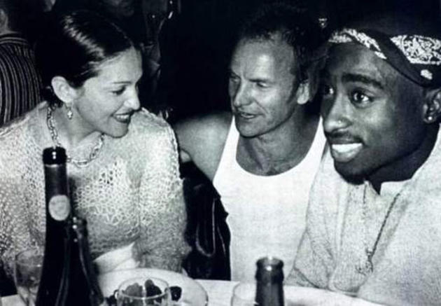 Madonna Sting and 2Pac Drinking