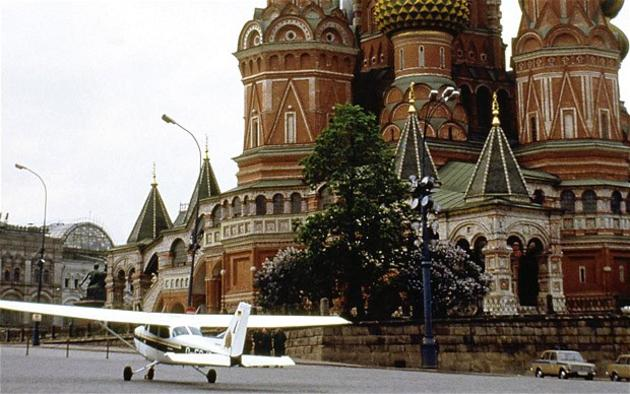 Mathias Rust landing on Red Square