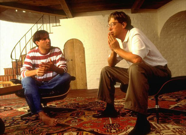 Steve Jobs and Bill Gates young
