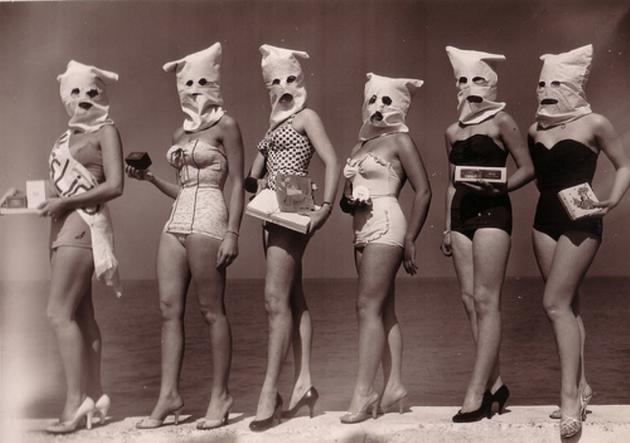 Old Weird Photos Women in Masks