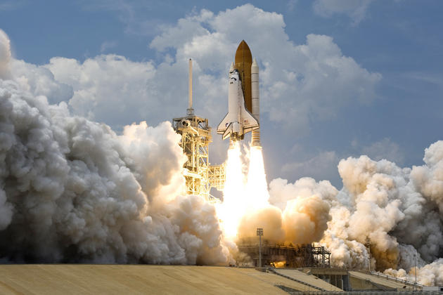 Space Shuttle Atlantis takeoff HD wallpaper