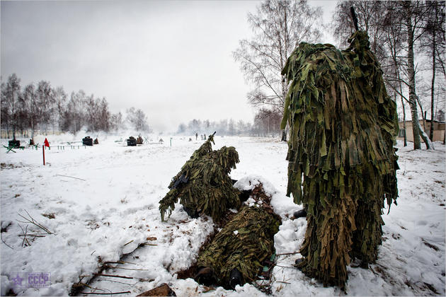 comrades in ghillie suits