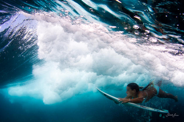 Sarah Lee captured a surfer underwater