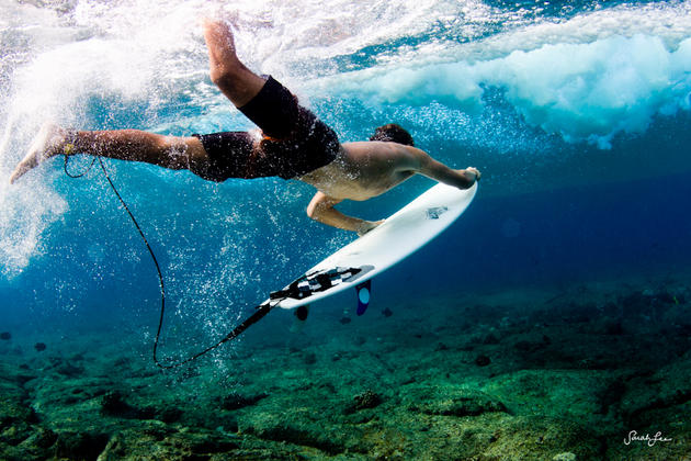 Surf photos underwater by Sarah Lee