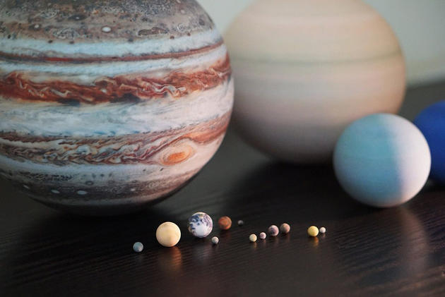 Solar System in 1:700,000,000 Scale