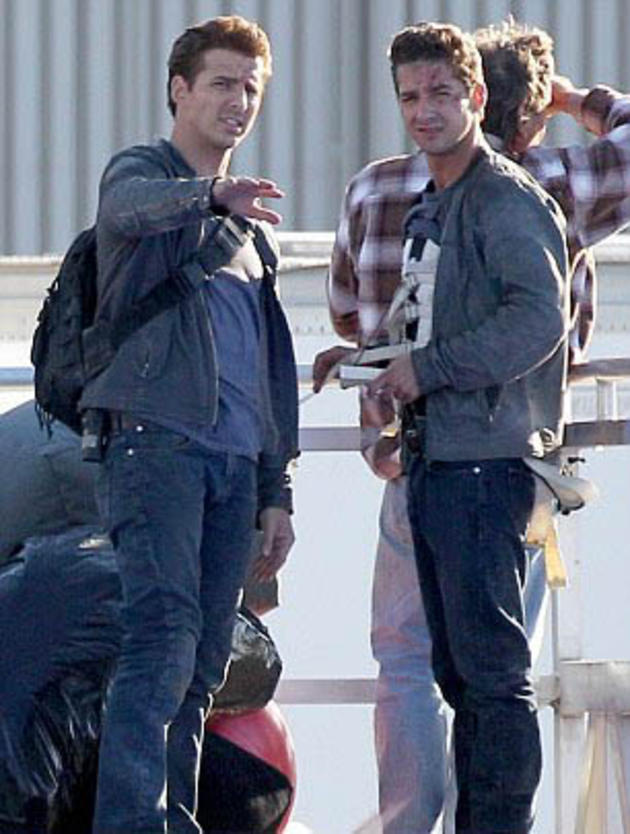 Shia Labeouf and his Stunt Double