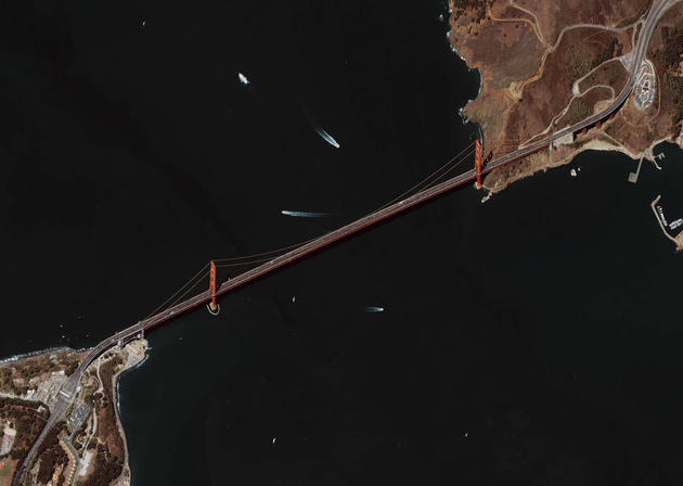 Golden Gate Bridge Satellite