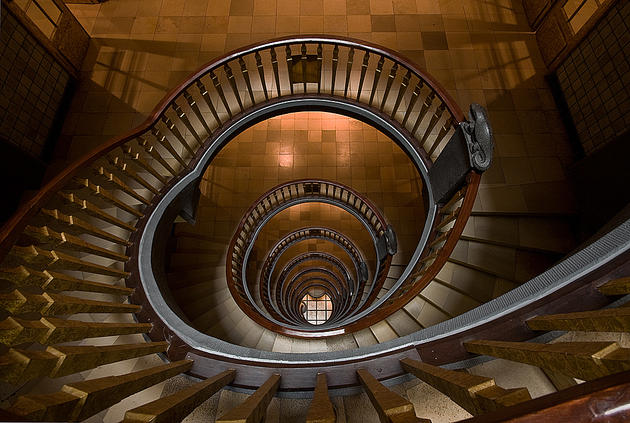 Staircase in Hamburg Germany