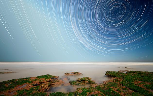 Long Exposure star trails HD Wallpaper