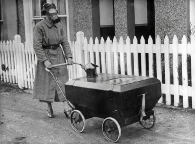 British invention stroller protected against gas
