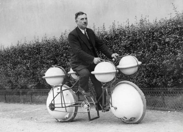 Floating bicycle invention