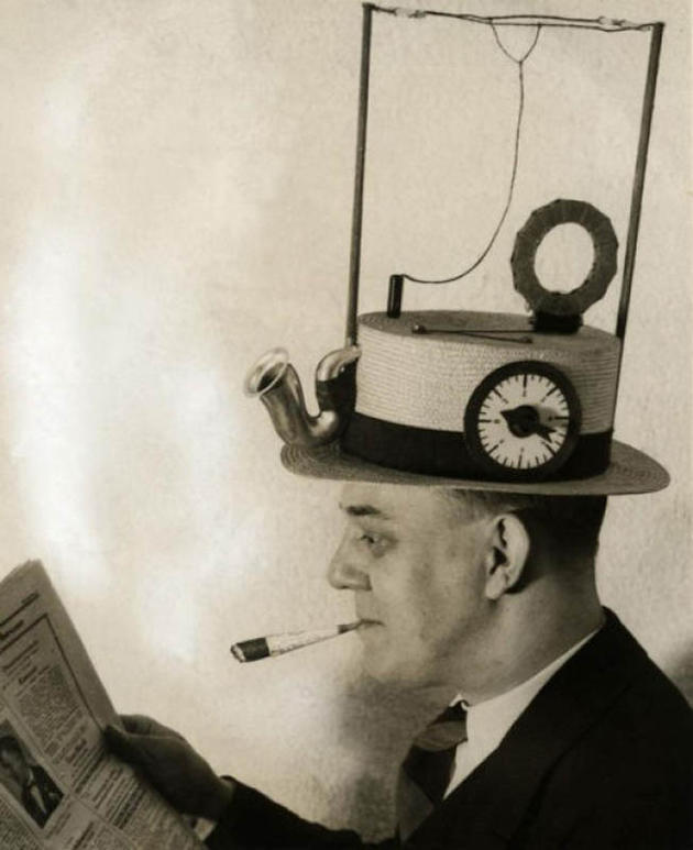 Hat that is also a radio invention