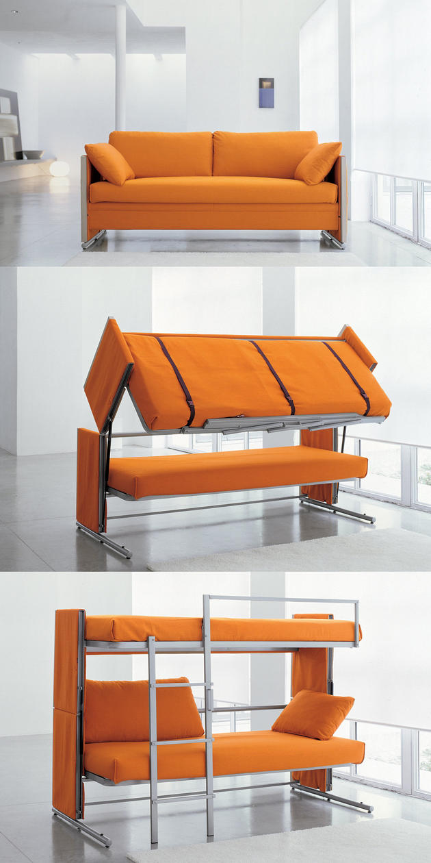 BOSS couch turns into a Bunk Bed