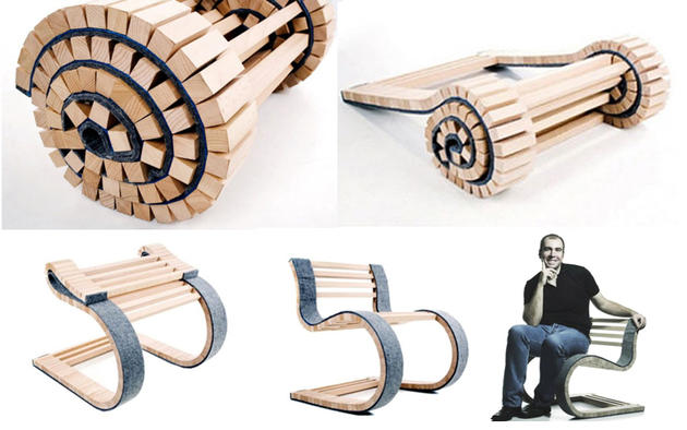 Folding Chair Roll up concept
