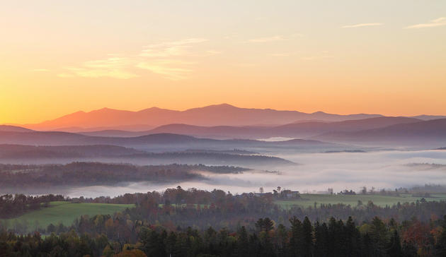 A beautiful sunrise in North Danville, Vermont.