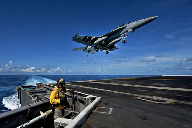 Super Hornet Landing on USS Carl Vinson