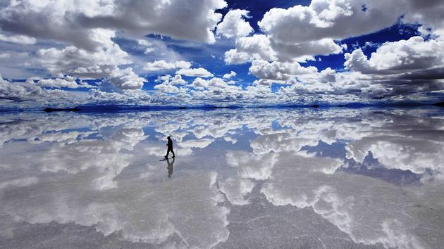 Bolivia Salt flat mirror surface