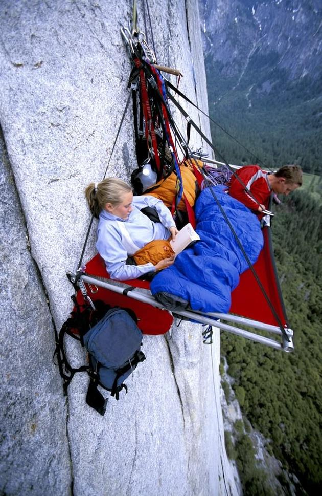 Portaledge camping in Yosemite, California