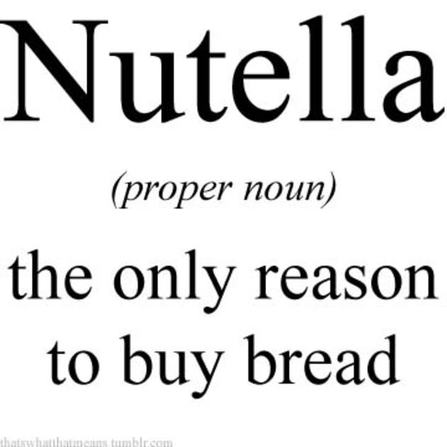 buying bread nutella