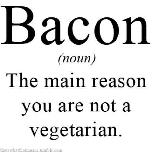 bacon vegeterian