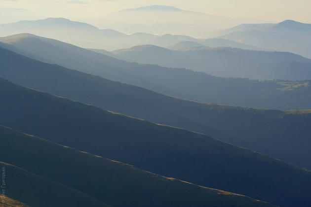 View from the Great Peak, Carpathian Mountains, Ukraine