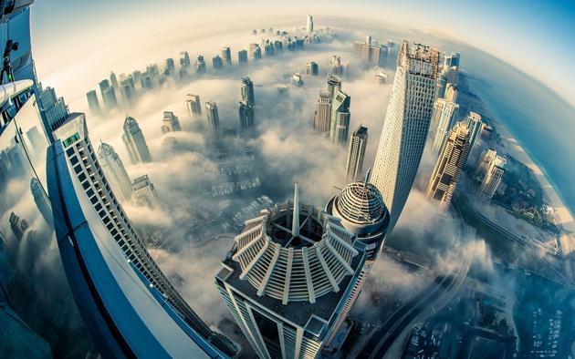 Up and Above Dubai by Sebastian Opitz HD Wallpaper