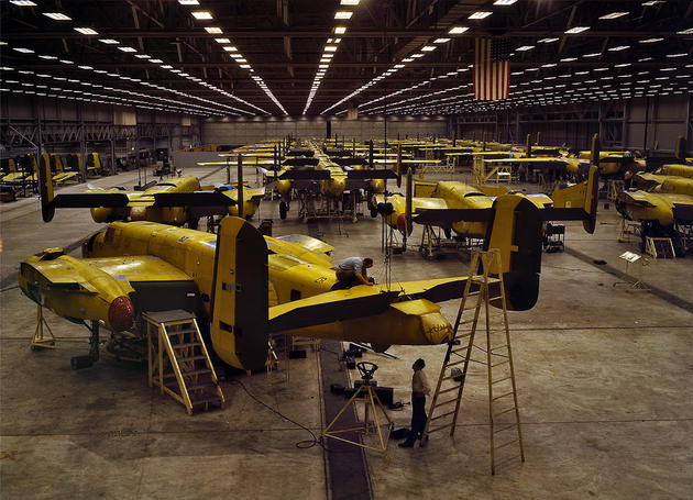 B-25 production line