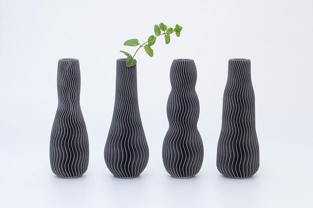 Wave collection of 3D printable vases for your home or office