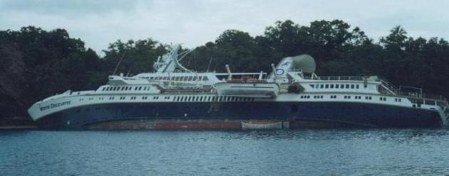 Cruise liner wreck
