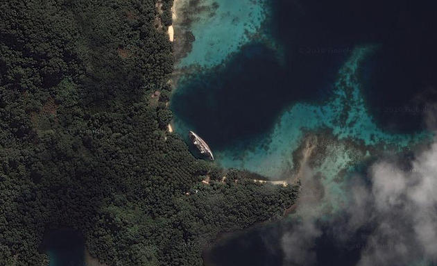 Google maps shipwreck