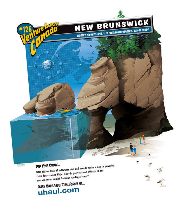Worlds highest tide, New Brunswick