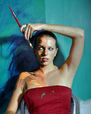 Alexa Meade Body Painting Art Simulates Paintings