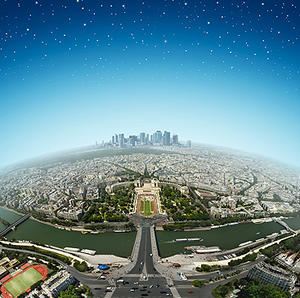 Birds Eye View of Paris