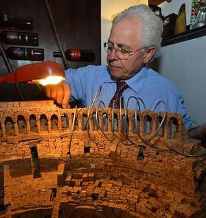 Colosseum Built Using Corks