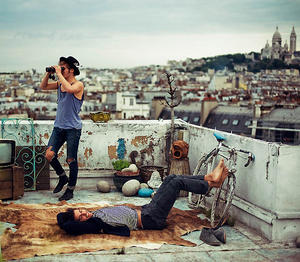 Hipsters in Paris, France by Theo Gosselin
