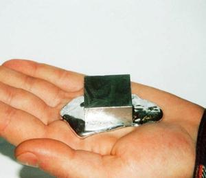 Gallium melting in a person's hand