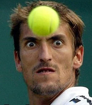 Funny tennis face