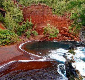 Kaihalulu Hawaii Red Sand Beach