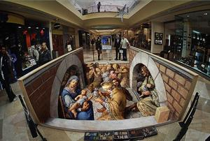 3D Street art by Kurt Wenner