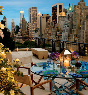 oudoor dining penthouse manhattan