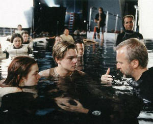 Filming titanic photo old