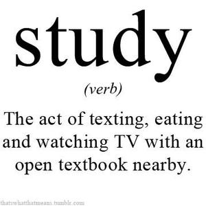 true meaning of studying